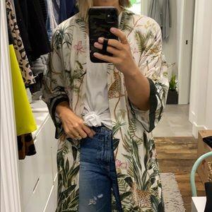 H & M jungle print kimono